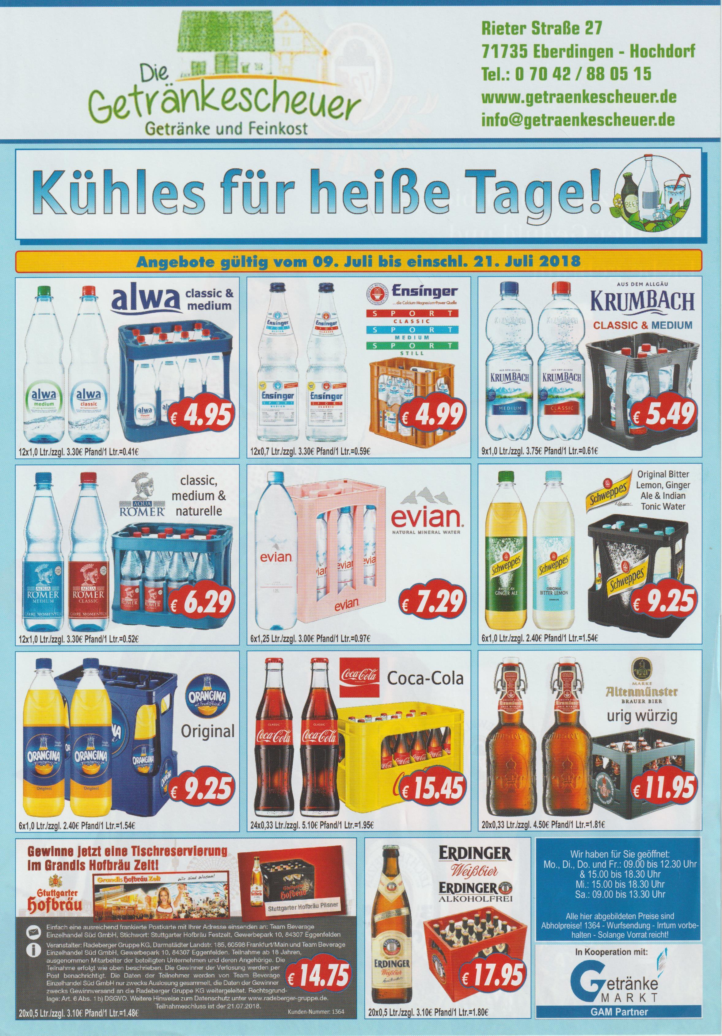 Getränke - Die Getränkescheuer